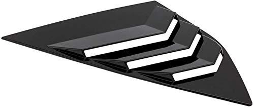 NOVELO -NOME AJUSTE PARA FORD FOCUST ST RS HATCHBACK Bright Black Window Lado LOUTERS VENTAR 2012 2013 2014 2015 2016 2017 2018 ABS (Color: Negro) Accesorios de alto rendimiento ( Color : Black )