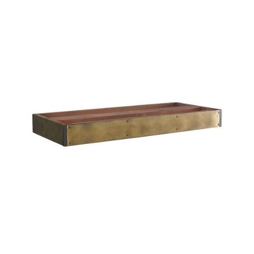 Campaign Stacking Unit Base - Features Solid Wood Base with Antiqued Brass Front - Authentic Models MF200 by Authentic Models