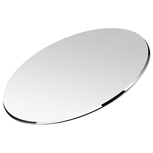 Vaydeer Round Hart Metall Aluminium Mauspad Matte Kreis Ultradünne Doppelseite Design Wasserdicht Schnelle und Genaue Steuerung für Spiele und Büro (Rund, 7,87 x 7,87 Zoll)