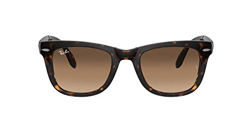 Ray-Ban Folding Wayfarer Gafas de sol, Light Havana, 51 para Hombre