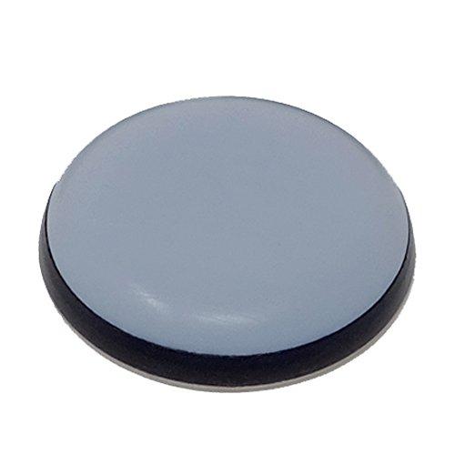SBS Teflongleiter | 40 mm | 4 Stück | selbstklebend | Möbelgleiter Bodenschutz grau perfekt für Schränke, Betten oder Couch