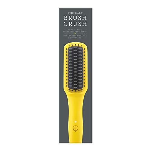 Drybar The Baby Brush Crush: Mini Heated Straightening Brush, Great for Touch-Ups, Flyaways, Bangs & Short Hair, Travel Friendly