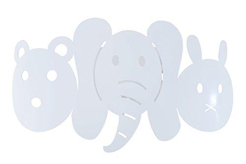 Tosel 31952 Applique Lumière, Acier, E27, 40 W, Blanc, 25 x 12 cm