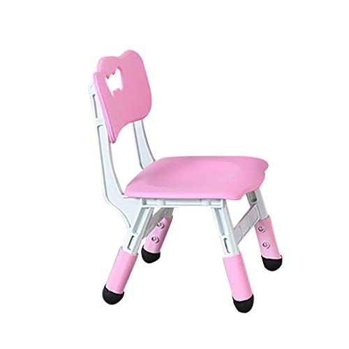 Adjustable Children's Study Chair, Height Adjustable Kids Chair,Ergonomic Design,for Girls and Boys, Comfortable Child Home Chair for Study & Play (Pink, Blue) (Pink)