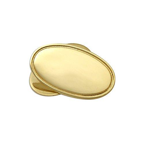 Boutons de Manchette Ovales en Or Jaune 9 Carats - A Chaînette