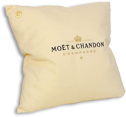 Moët & Chandon Champagne kussen 40 x 40 cm crème champagne bar lounge kamer decoratie accessoire