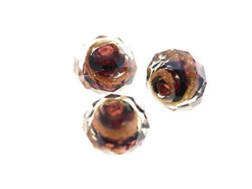 Perle di Vetro, filo perle, radl 14X 8mm farbein Zug, di alta qualità, Legno cristallo perle fai da te di orecchini, bracciali, catena, gioielli, da Creare, Decorare, decorare, Vetro, 85 braun