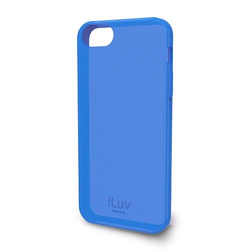 iLuv ICA7T306BLU, Custodia iLuv Gelato Soft per iPhone 5, Blu