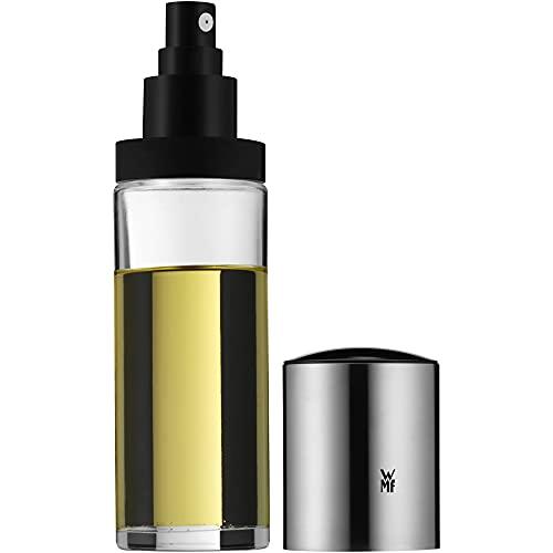 WMF Basic Essig- Olsprüher 125ml, Essig-Sprühflasche, Öl-Sprühflasche mit Glasbehälter, Cromargan Edelstahl mattiert, spülmaschinengeeignet