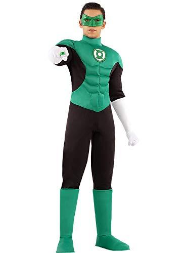 Funidelia | Disfraz de Linterna Verde Oficial para Hombre Talla XXL Superhroes, DC Comics, Justice League, Green Lantern