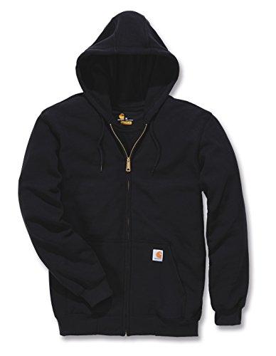 Carhartt Herren Sweatjacke Midweight Hooded Zip Front Sweatshirt Schwarz Black XL