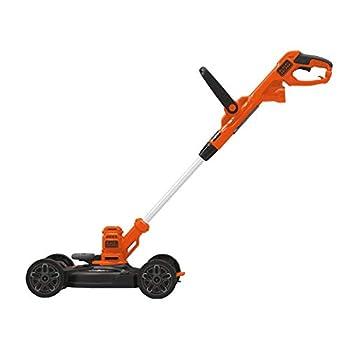 BLACK+DECKER 3-in-1 Cordless Lawn Mower String Trimmer & Edger 12-Inch  BESTA512CM