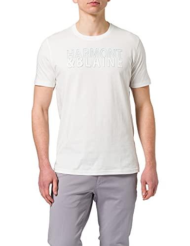 Harmont & Blaine IRF111021055 T-Shirt, Bianco, S Uomo