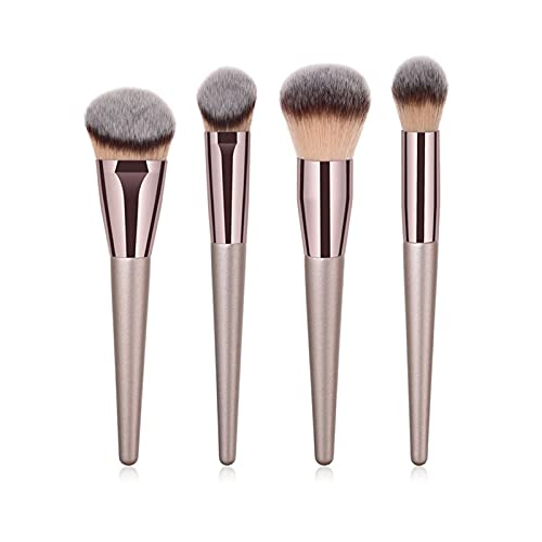 KEHUITONG PSWK 4 / 10PCS Cepillos de Maquillaje de champán Set para la Base cosmética Powder Blush Eyeshadow Eyeshadow Mezcla Make Up Brush Beauty Tool (Handle Color : 4pcs XB Foundation)