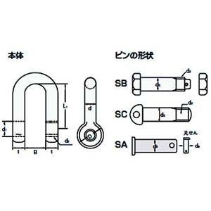 大洋製器工業 大洋 TAIYOシャックル黒SB-10 SB-10