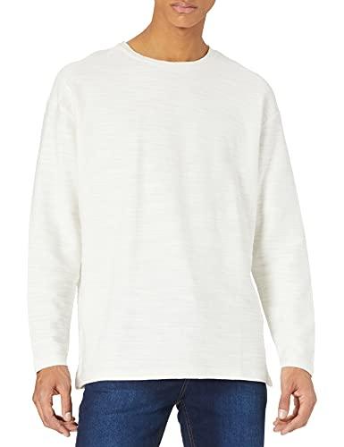 TOM TAILOR Denim 1023840 Basic Longsleeve Camiseta, 12906-Lana de Color Blanco, L...