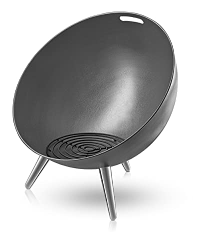 EVA SOLO Brasero FireGlobe - La Forme protège la Flamme Contre Le Vent - Noir