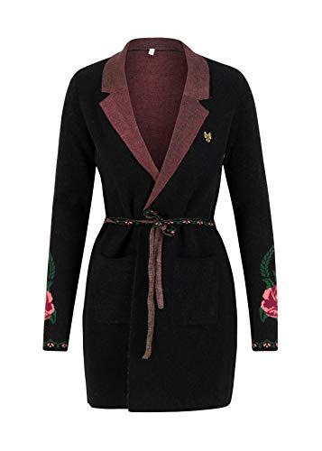 Blutsgeschwister Damen Strickjacke Gone with The Mind Coat Cardigan Langarm Schwarz XL
