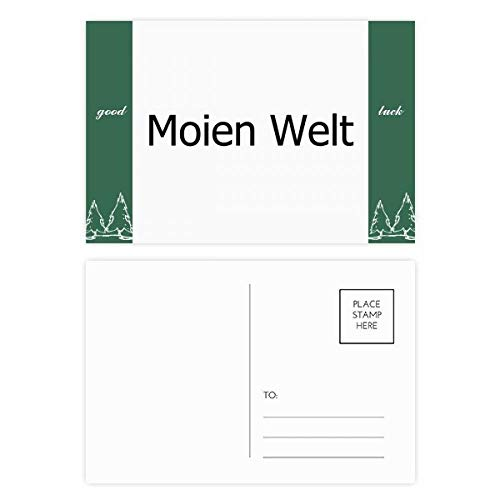 Hallo Wereld Luxemburg Veel Geluk Postkaart Set Kaart Mailing Zijde 20 stks
