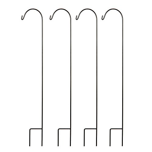 "Hosley Set of 4 Shepherd Hooks- 33"" High. Ideal for Solar LED Lights, Bird Feeders, Mason Jars, Plant Hangers, Lanterns, Garden Stakes. Gift for Weddings, House Warming, Special Events O3"