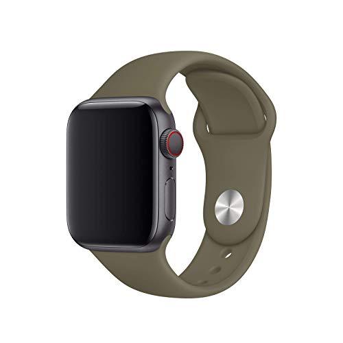 Compatible con Apple Watch Band 38 mm / 40 mm 42 mm / 44 mm S/M M/L Banda deportiva de silicona suave para mujeres Correa compatible con la serie iWatch