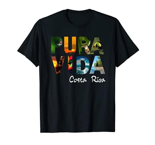 Pura Vida Costa Rica Hombres Mujeres Niños Camiseta