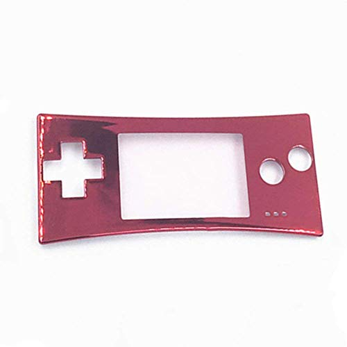 Faceplate Cover Replacement Front Shell Housing Case for Game Boy Micro GBM (Red)