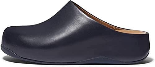 Fitflop Damen shuv Leather Holzschuh, Midnight Navy (Marineblau), 38 EU
