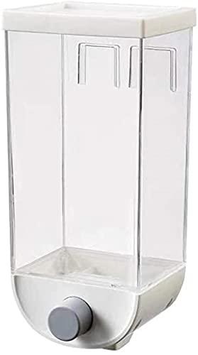 DZCGTP Taza de Agua Dispensador de Granos Montado en la Pared Granos Transparentes Contenedor de Almacenamiento Botella del Tanque Sello a Prueba de Humedad Frijoles de Cereales de Alimentos Frescos