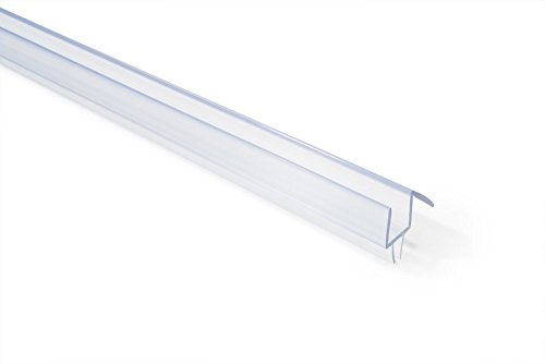 SHOWERDOORDIRECT.COM 38COBS36 Frameless Shower Door Bottom Sweep with Drip Rail for 36-Inch Long 3/8-Inch Glass, Clear