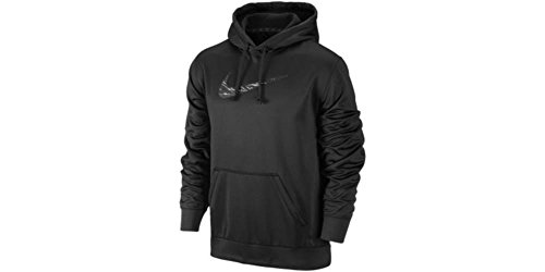 Nike Therma Fit KO Swoosh Blur - Sudadera con Capucha para Hombre, Talla S, Color Azul, KO Flash Swoosh Sudadera con Capucha, S, Negro