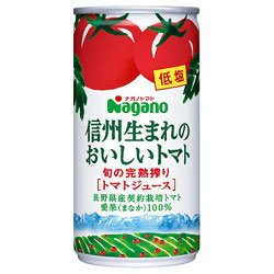 信州生まれのおいしいトマト 低塩 190g×30本 缶