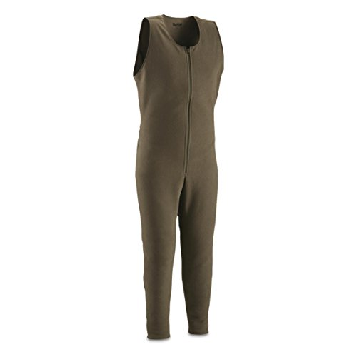 Guide Gear Men's Heavyweight Fleece Base Layer Union Suit, Thermal and Moisture Wicking, Olive Brown, 2XL