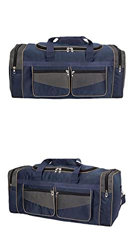 Ultra-Large Borsa Da Viaggio Disegno A Mano Li Bag 90 litri Uomo Grande Zaino In Movimento Trapunta Vestiti, Blu, Bagaglio da viaggio