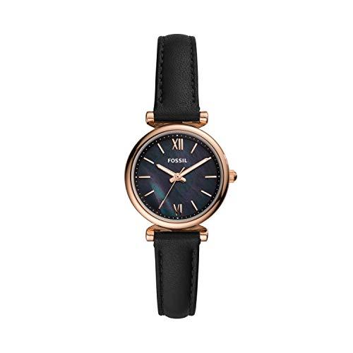 Fossil Damen Analog Quarz Uhr mit Leder Armband ES4700