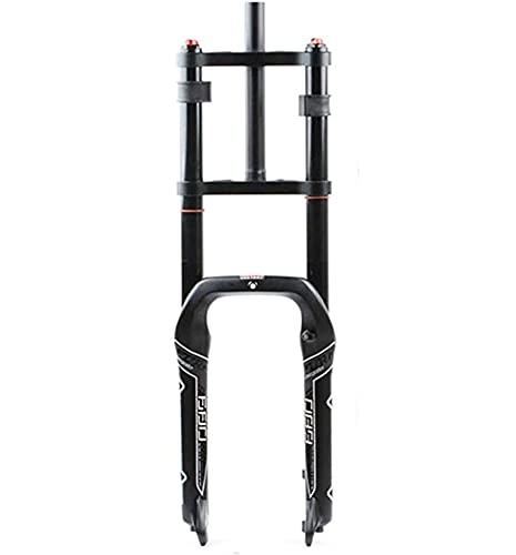 Ciclismo Sospensione Forcella Motoslitta ATV Fat Tire Pressione Aria Olio Molla Ammortizzatore Doppia Spalla Forcella Anteriore 20 4.0 Larghezza Forcella 135mm 20in