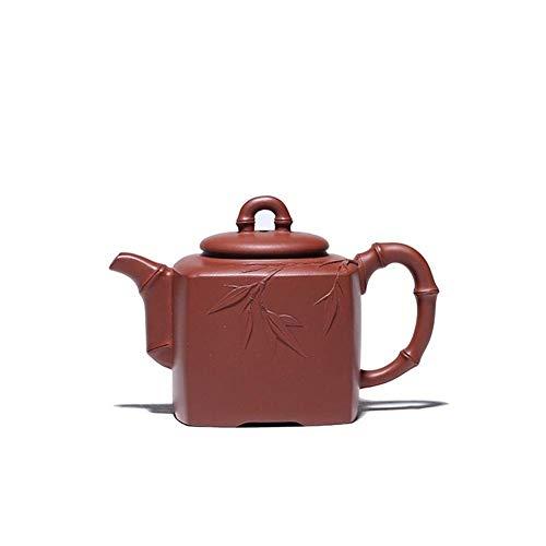 Tetera Estilo japonés, Tea Maker Pot Tea Taza Púrpura Clay Tetera Mano-Famosa Cuarteto Bambú Kung Fu Tetera Tetera Color: Mudo Púrpura, Tamaño: Un tamaño (Color : Purple mud, Size : One Size)