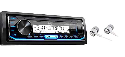 JVC KD-X35MBS Single DIN SiriusXM Bluetooth MP3 USB Pandora , iHeartRadio , Spotify , Android/iPod/iPhone Music Playback , in-Dash Digital Media Marine Stereo Receiver with Alphasonik Earbuds
