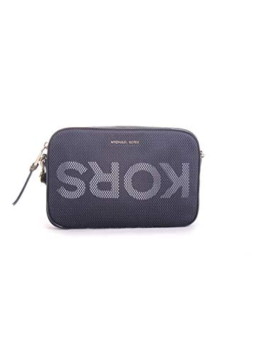"""Small sized bag; 9-1/2""""W x 6-1/4""""H x 2""""D (width is measured across the bottom of handbag) Silhouette is based off 5'9"""" model 22-1/2""""-25""""L removable crossbody strap Zipper closure Gold-tone hardware 1 interior iPad pocket & 1 front slip pocket Polyest..."""