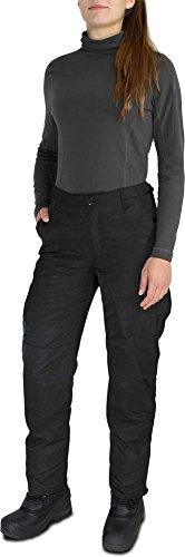 normani Damen Skihose Thermohose gefüttert für Herbst und Winter - Wasserdicht und extrem warm Farbe Schwarz Größe XL