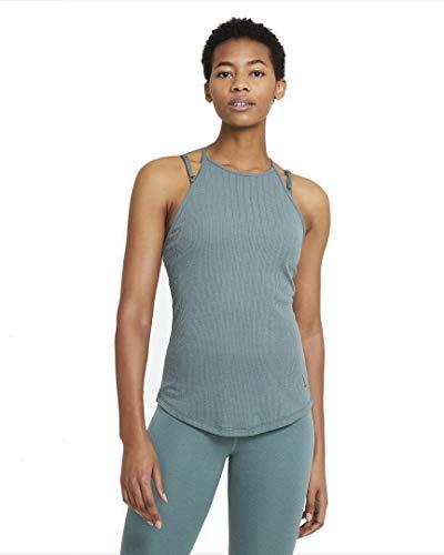 NIKE Camiseta NY Pointelle para Mujer, Mujer, Camiseta, DA0764, hasta/Dark Teal Green, Medium