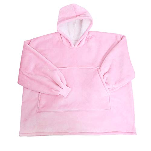 Winter Plush Pullover,Blanket Sweatshirt with Sherpa Lining,Lightweight Wearable Throw,Oversized Fleece Pullover with Pocket Hoodie Blanket for Teens, Men, Women (Thickened...