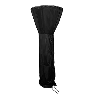 Nomiou Patio Heater Cover with Storage Bag Heavy Duty Black Protects from Snow Rain Dust and Sun