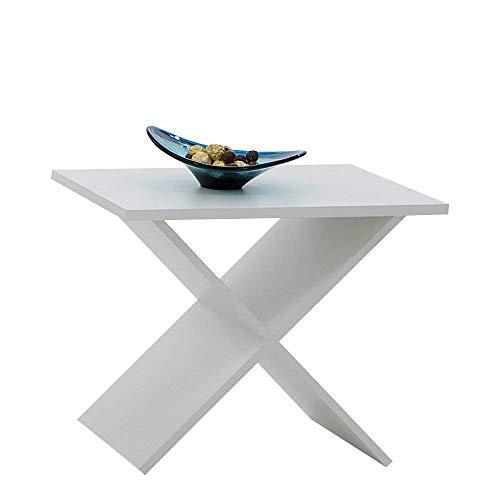 FMD Möbel Phil Mesa Auxiliar, Madera manufacturada, Blanco, 54.5x38.5x43 cm