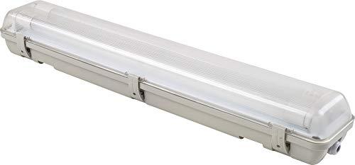 SHADA 2400201 LED Leuchte mit Röhre 60cm 2x 9W IP65, Grau