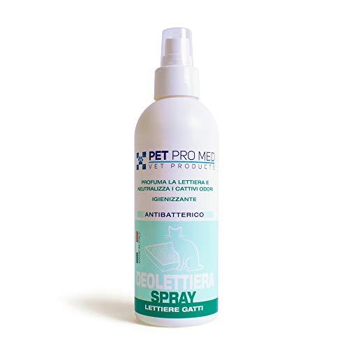 Virosac PetProMed - Deolettiera spray antibatterico - Ideale per igienizzare le lettiere dei gatti, eliminando i cattivi odori - 1 flacone da 200 ml