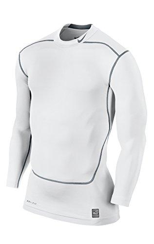 Nike Herren Unterwäsche Pro Combat Mock 2.0, weiß - White/Cool Grau, XL