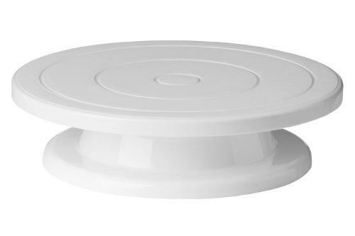 Premier Housewares 0806489 - Soporte giratorio decorativo, color blanco, 28 x H7 cm