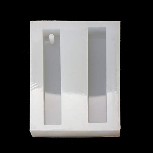 Yushu Rectángulo barra resina silicona molde resina epoxi DIY colgante haciendo joyas herramientas