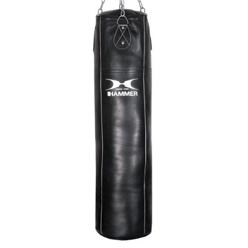 Hammer 92710 Boxsack Premium Rindsleder Professional, schwarz, 100 cm